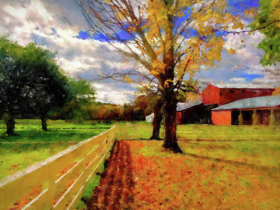 Painting - Massachusetts - Autumn Colors 05  by Andrea Mazzocchetti