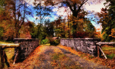Painting - Massachusetts - Autumn Colors 06 by Andrea Mazzocchetti