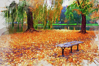 Painting - Massachusetts - Autumn Colors 08 by Andrea Mazzocchetti