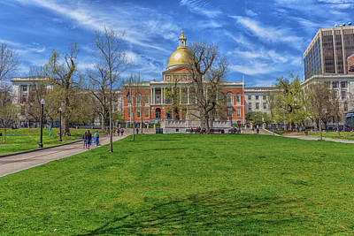 Photograph - Massachusetts State House by Brian MacLean