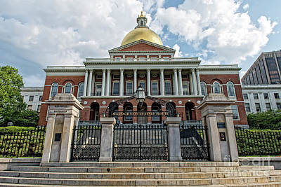 Photograph - Massachusetts State House by Charles Dobbs