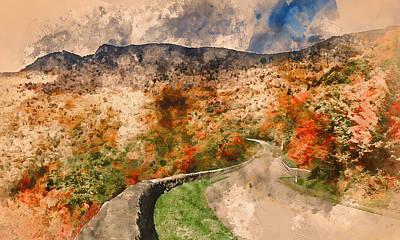 Painting - Massachusetts - Watercolor 01 by Andrea Mazzocchetti