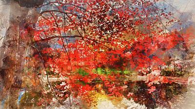 Painting - Massachusetts - Watercolor 02 by Andrea Mazzocchetti