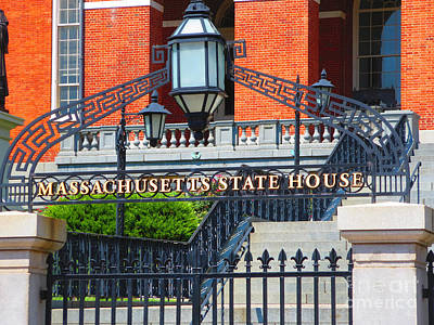 Photograph - Massachusts State House Boston Ma Usa America Photo Navinjoshi Fineartamerica Pixels  by Navin Joshi