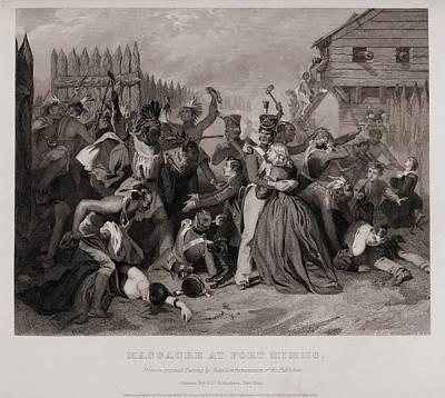 Massacre At Fort Minns. On August 30 Art Print by Everett