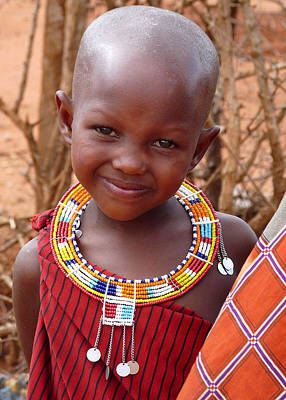 Photograph - Massai Child by Joel Gilgoff