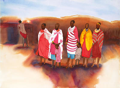 Massai Mommas Art Print