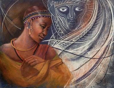 Painting - Massai Princess by Pamela Mccabe