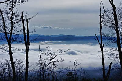 Photograph - Massanutten Foggy Top 1 by Lara Ellis