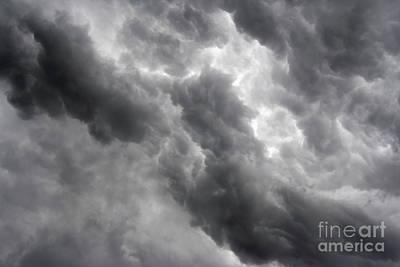 Leaden Sky Photograph - Masses Of Dark Clouds by Michal Boubin