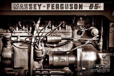 Antique Tractors Photograph - Massey Ferguson 85 by Olivier Le Queinec