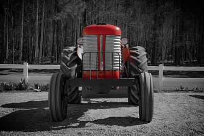 Photograph - Massey Ferguson Farm Tractor by Henri Irizarri