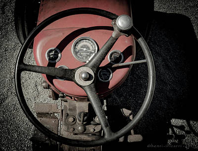 Photograph - Massey Ferguson Farm Tractor Steering Wheel by Henri Irizarri