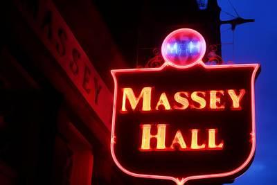 Massey Hall Wall Art - Photograph - Massey Hall by The Art Of Marilyn Ridoutt-Greene