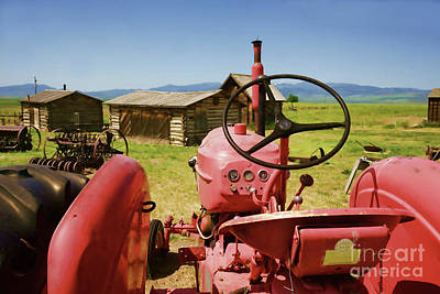 Photograph - Massey Harris Tractor by Roxie Crouch