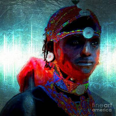 Mixed Media - Massi Warrior by Vannetta Ferguson