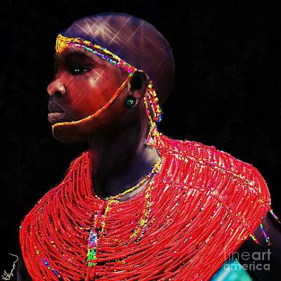 Mixed Media - Massi Woman 2 by Vannetta Ferguson