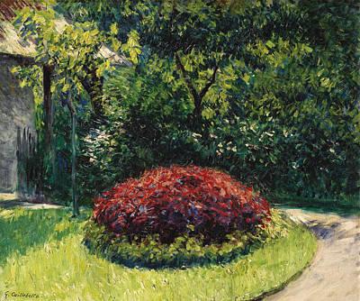 Painting - Massif De Fleurs Jardin Du Petit-gennevilliers by Gustave Caillebotte