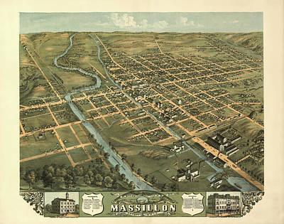 Massillon Ohio 1870 Art Print