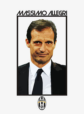 Allegri Digital Art - Massimo Allegri by Semih Yurdabak