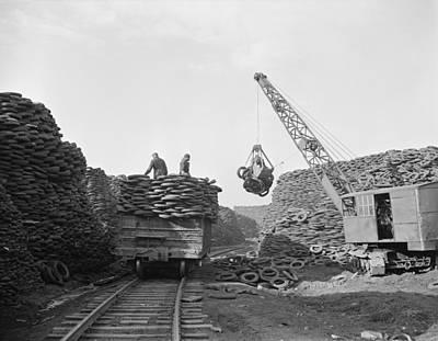 Inner World Photograph - Massive Firestone Rubber Reclamation by Everett
