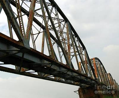 Photograph - Massive Old Railway Bridge by Yali Shi