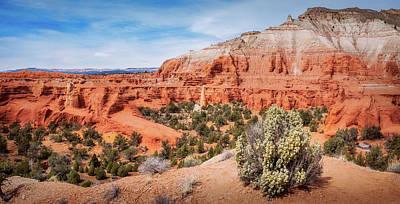Photograph - Massive Sandstone Cliffs At Kodachrome Basin State Park by Daniela Constantinescu