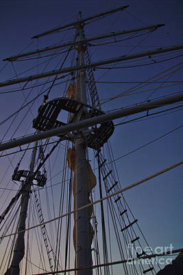 Photograph - Mast And Evening Sky by Jeremy Hayden