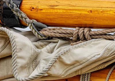 Photograph - Mast And Sail by Peg Runyan