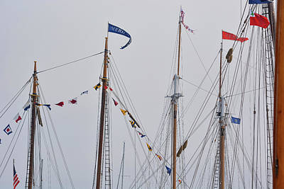 Photograph - Mast Flags by Jesse MacDonald