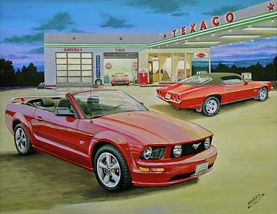 Painting - Mast Mustang by Branden Hochstetler