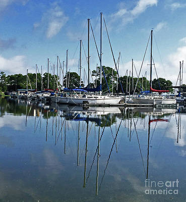 Mast Reflections Art Print by Susan E Robertson