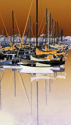 Photograph - Mast Reflections by Walter E Koopmann