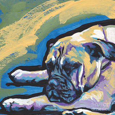 Pop Art Dog Painting - Masta Bull by Lea S