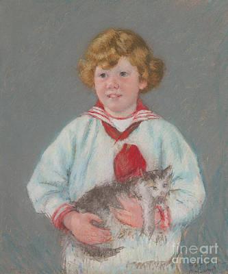 Pastel Pet Portrait Pastel - Master Alexander J Cassatt by Mary Stevenson Cassatt