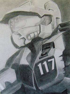 Solider Drawing - Master Chief by Tadd Kosola