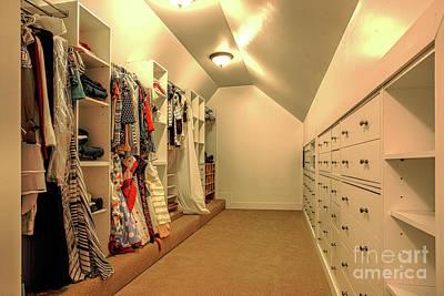 Photograph - Master Closet by Richard Lynch