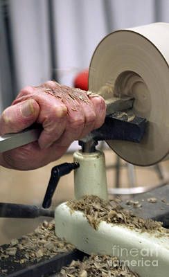 Wood Turning Photograph - Master Craftsman by Skip Willits
