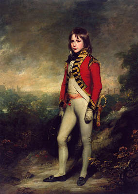 Marshall Painting - Master James Hatch As Marshall's Attendant At The Montem Eton by William Beechey