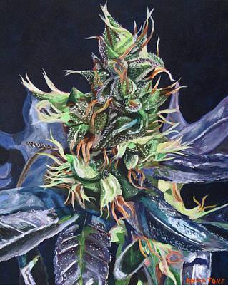 Weed Painting - Master Kush by Anita Toke
