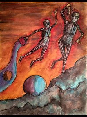 Drawing - Master Minds Of Mars, The Voices Of Time by Jim Casey