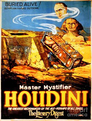 Sphinx Mixed Media - Master Mystifier Houdini Rare Vintage by Carsten Reisinger