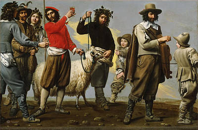 Sheep Painting - Master Of Procession by MotionAge Designs