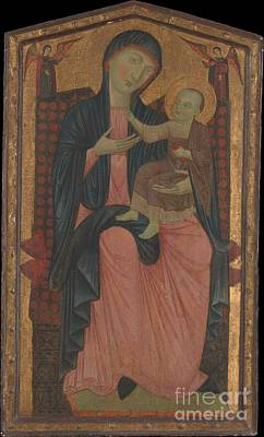 Madonna And Child Painting - Master Of The Magdalen by Celestial Images