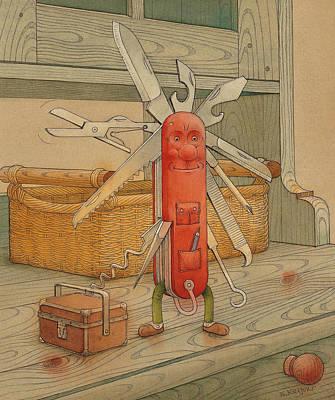 Painting - Master Pocketknife by Kestutis Kasparavicius