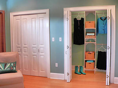 Photograph - Master Suite Closets by Kathy K McClellan