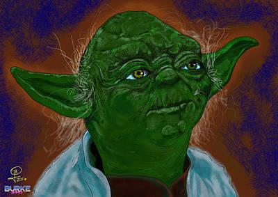Master Yoda Art Print by Joseph Burke