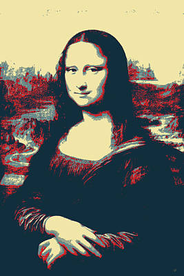 Digital Art - Masterpieces Revisited - Mona Lisa By Leonardo Da Vinci by Serge Averbukh