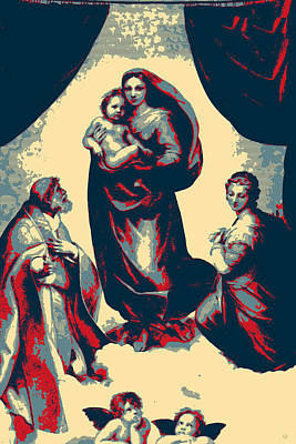 Digital Art - Masterpieces Revisited - Sistine Madonna By Raphael by Serge Averbukh