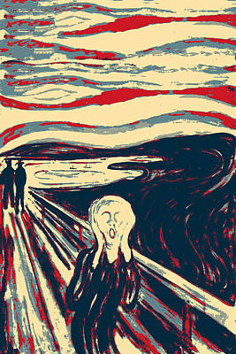 Digital Art - Masterpieces Revisited - The Scream By Edvard Munch by Serge Averbukh